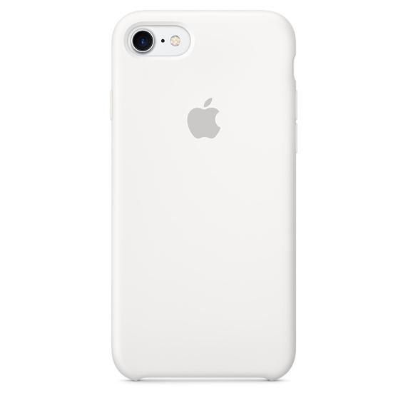 cedc2abfbfe8a كفر حمايه من السيليكون للأيفون ٧ -ابيض  Apple